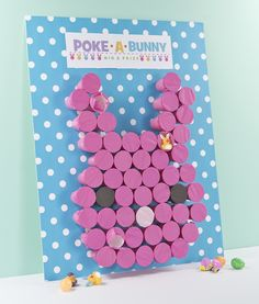 This is the perfect Easter game for children of all ages, including adults! Choose an egg or bunny game. Simply poke a hole into the cups to win your prize.
