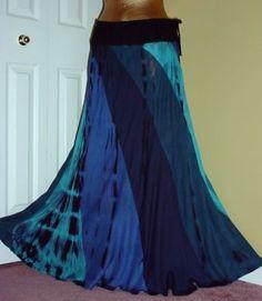 Gypsy Hippie Tie Dye Patchwork Funky Skirt