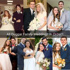 All Duggar family weddings in order! I can make engagements and pregnancy too!!