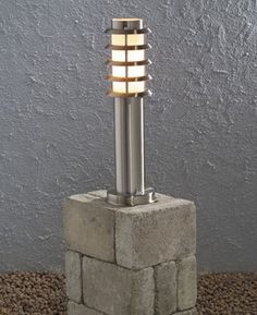 Trento Stainless Steel Outdoor Bollard Light