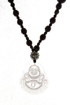 Buddha Crystal Quartz Necklace #buddha #necklace #crystal