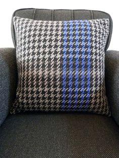 Handwoven cushion by Ilse Acke