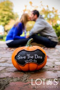 Engagement Photography Greenville #Engagement #Photography ... We could replace the pumpkin, maybe put puzzle there??
