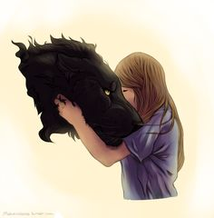 I wish I had a girlfriend that could turn into a panther Giant Black Cat & Small Blonde Girl otp aka Carmilla
