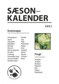 Sæsonkalender Juli | Smag På Årstiden