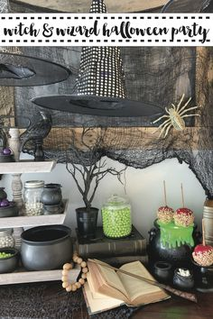 Host an amazing witch and wizard Halloween party with inspiration from Everyday Party Magazine and @coloritcandy #Sponsored #HalloweenDecorations #HalloweenParty