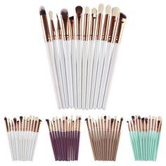 2017 Hot 12Pcs Hypoallergenic Cosmetic Brush Makeup Brush Sets Kits Tools  Mar2