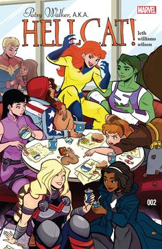 Kate Leth and Brittney Williams discuss their new Marvel Comics series featuring Patsy Walker, a teen romance star turned superhero. Marvel Dc Comics, Hq Marvel, Cosmic Comics, Marvel Series, Marvel Women, Marvel Girls, Captain Marvel, Marvel Universe, V Force