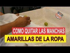 ▶ COMO QUITAR MANCHAS AMARILLAS EN LA ROPA - YouTube