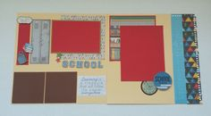 Creative Designs by Della: School Scrapbook Double Page Layout, Little Yellow...