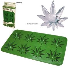 Perfect for your next 420 celebration or in your bong! Stoneware Ice Cube Tray