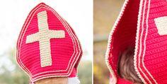 Sinterklaas mijter haken - Wolplein.nl | Alles voor breien en haken! Crochet Baby, Vans, Sneakers, December, Christmas, Fashion, Amigurumi, Xmas, Everything