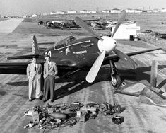"North American P-51C Mustang, ""Thunderbird"", racer owned by ex-B-24 pilot Jimmy Stewart & Joe De Bona Apr 1949.  (LIFE Magzine Photo)"