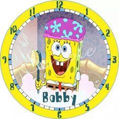 Sponge Bob Bathroom Personalized Clock