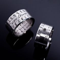 This Aquitaine Sundial ring is based on the original sundial ring Queen Eleanor gave to her husband, Henry II of England in about 1152. On a cloudless day, hold the ring upright aligning one of the 3 reference lines straight up. Rotate the sun dia...