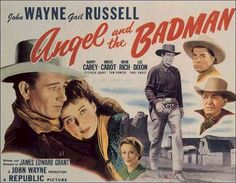 Angel and the Badman is a 1947 American Western film written and directed by James Edward Grant and starring John Wayne, Gail Russell, Harry Carey and Bruce . Old Movies, Vintage Movies, Great Movies, Vintage Posters, Love Movie, I Movie, Movie Stars, Stephen Grant, Iowa