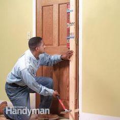 How to Hang a Door #DIY #tutorial