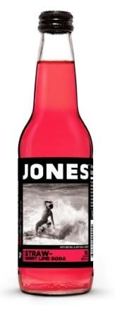 In real life, this is much more red - Strawberry Lime Jones Pure Cane Soda