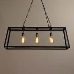 $270 Cost Plus, Dining  One of my favorite discoveries at WorldMarket.com: Rectangular 4-Sided Glass Pendant Lamp