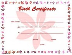 1000 images about projects to try on pinterest rose for Baby doll birth certificate template