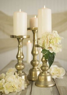 Dress our refined candle holders with draped floral arrangements to create gorgeous focal points. Mix and match different sizes of these candlesticks, as well as different sizes of pillar candles, for a stylish table top.