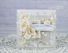 Shabby wedding card by Monia - Cards and Paper Crafts at Splitcoaststampers