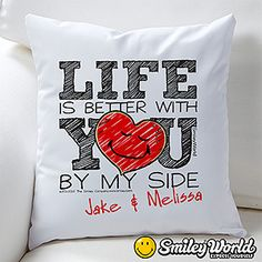 SmileyWorld® Personalized Love Throw Pillow
