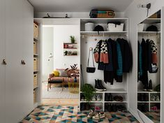 More color means more life - the designer was definitely guided by this principle when designing the interiors of this family apartment in the suburbs of ✌Pufikhomes - source of home inspiration Entry Hallway, Entryway, Mint Green Kitchen, Pastel Interior, Family Apartment, Bohemian House, Blue Bedroom, Decoration, My Dream Home