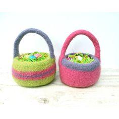 Wool Felt Easter Basket From Debora B Studio  Amazing #Easter #Baskets from @Etsy