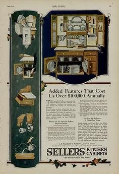 Sellers Kitchen Cabinets Vintage sellers ad 1920 | hoosier kitchen cabinet | pinterest | hoosier