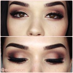 make up brown eyes