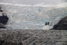 Tongue of ice from the huge glacier in Skaftafell National Park, Iceland