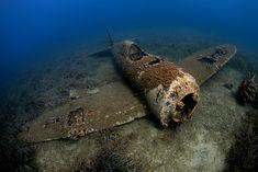 Republic P-47D Thunderbolt wreck dive in Corsica