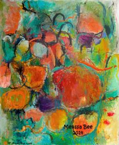 Art - Lucid Dream 1 Colorful Dreamy Abstract Non Objective Oil Painting by Melissa Bee Denver Artist