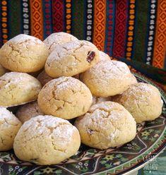 Üzümlü, cevizli pastane kurabiyesi