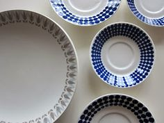 From flea market: vintage plates from Gustavsberg