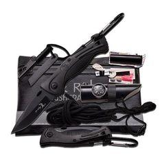 """Elk Ridge Black Survival Kit, 6.75"""" x 4.25"""""""