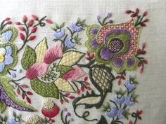 #Crewel embroidery #afs collection