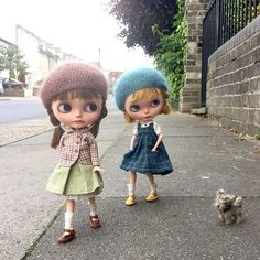 """Oh look Rita! What a sweet little doggie! Do you think mummy will mind if we take him home? Fairy Art, Barbie Dress, Hello Dolly, Baby Cats, Cute Dolls, Big Eyes, Blythe Dolls, Doll Clothes, Winter Hats"