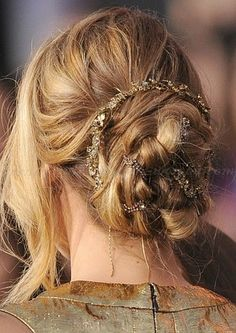 chignon hairstyles, low bun hairstyles - braided chignon