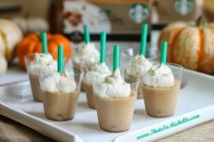 Pumpkin Spice Latte Jello Shots-We'll be basic for one of these. Get the recipe from That's So Michelle.   - Delish.com