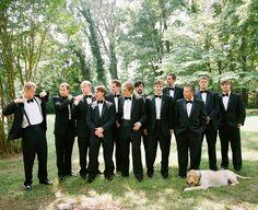 black wedding tuxedo with bow tie / no cummerbund