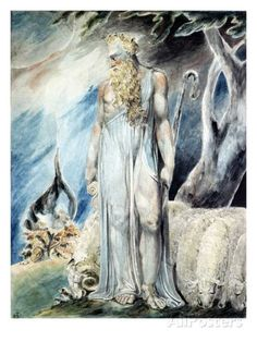 Moses and the Burning Bush Giclee Print by William Blake at AllPosters.com