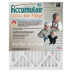 I'm learning all about Accumulair 24X24X1 23.38 X 23.38 Platinum Filter Merv 11 at @Influenster!