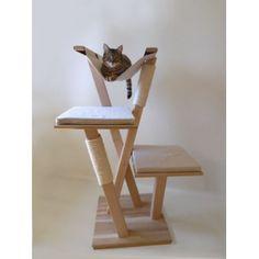 Arbre à chat en bois 'Carline'
