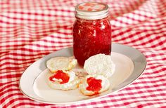 Easy Strawberry Jam and Biscuits