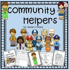 This Community Helpers unit includes a reader, community helper book for each child to complete, labeling activities, center activities, bulletin board, and much more! $  Community Helpers covered in this unit:  doctor, nurse, vet, police officer, fireman, chef, teacher, mechanic, teacher, crossing guard, trash collector and detective.