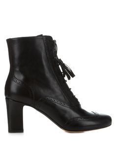 Tabitha Simmons Afton block-heel leather ankle boots