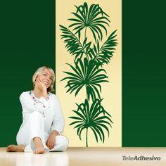 Vinilo decorativo planta ornamental 66x140 cm, 45,22 euros