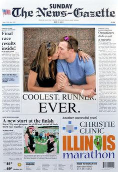 That's the couple mentioned in the story on this giant newspaper photobooth.